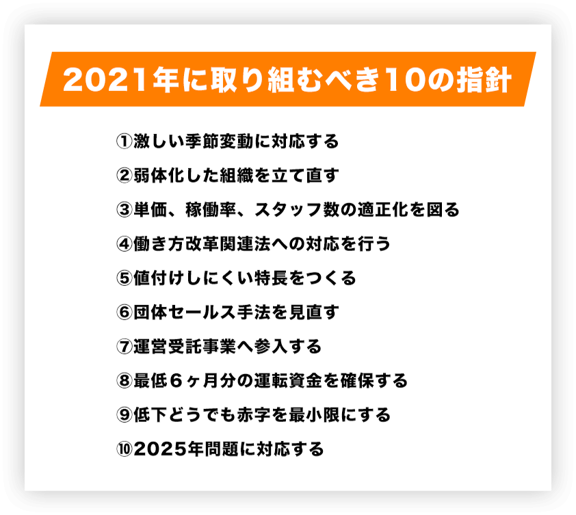 2021年に取り組むべき10の指針